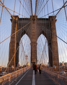 View of Brooklyn Bridge : Wikipedia commons licence