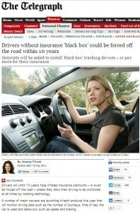 Daily Mail Article on Black Box requirements by insurance companies