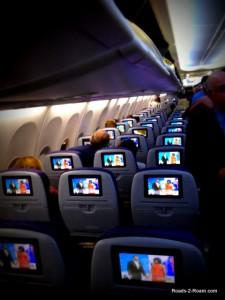 Ultra bright entertainment systems on a United flight