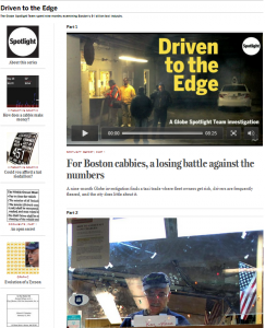 Boston Globe's Excellent investigation into the problems with Boston's $1B Taxi industry.