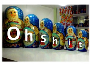 Matryoshka dolls upon hearing about the Russian tour firm, Labirint