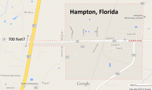 City of Hampton, Florida. Look at how small of US 301 they controlled.
