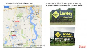"US301-Legalized Highway robbery with two towns singled out by AA as ""Traffic Traps""."