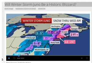 The forecast for Winter Storm Juno Copyright Weather.com