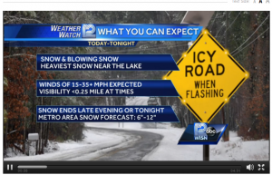 WISN weather alert for South Wisconnsin