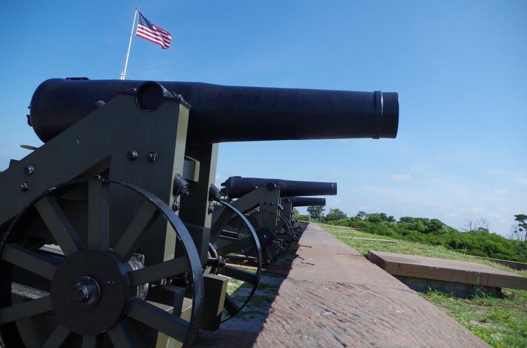 Coastal guns at Ford Macon
