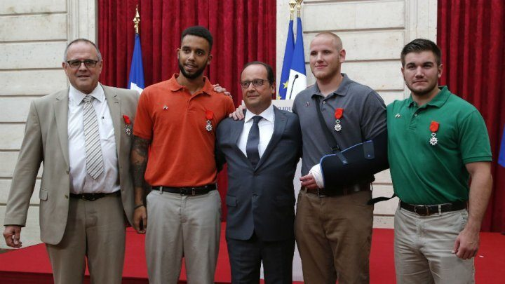 Arras Train hero's receiving Legion of Honor
