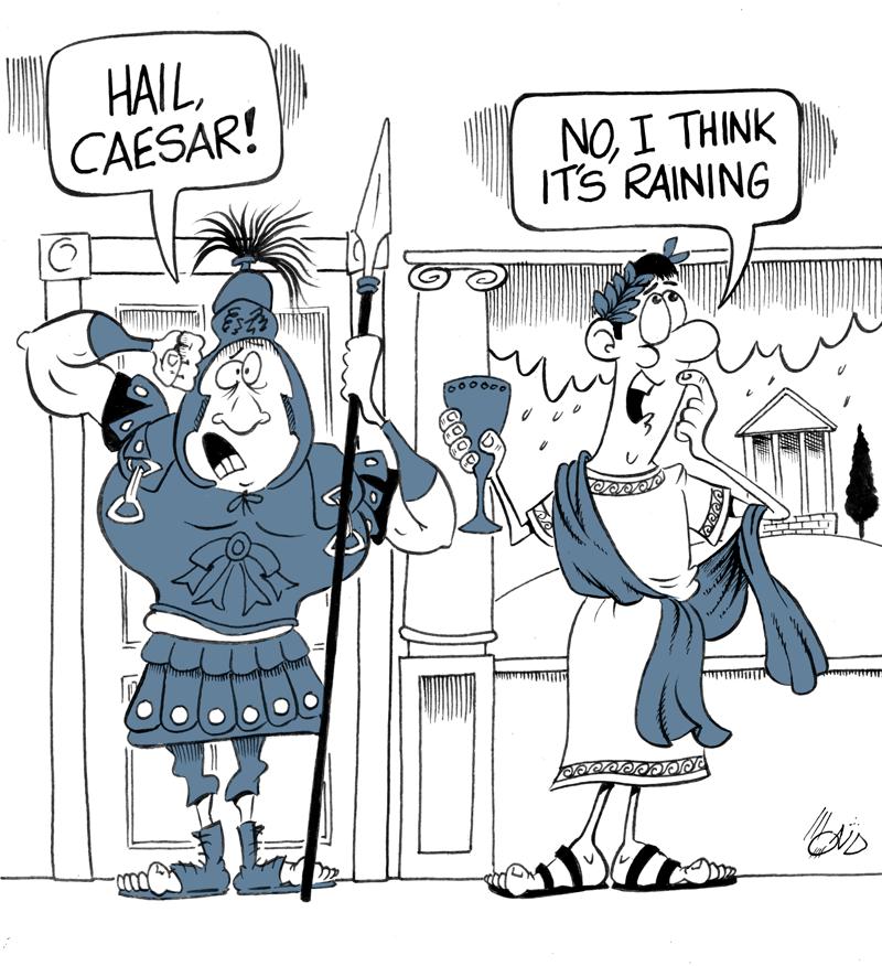 A very poor original Roaman joke about the weather.