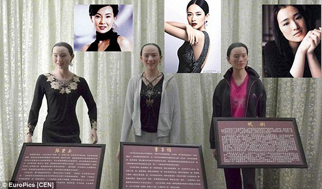 Life like images (yeh right..) of Wax figures in China :Copyright EuroPics.