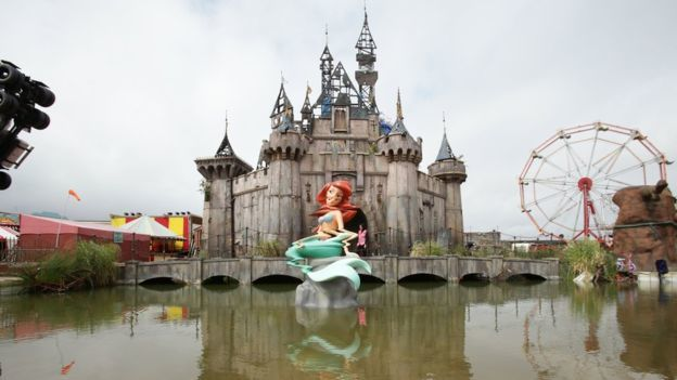 Dismaland - just a memory (or a nightmare) now. Copyright PA