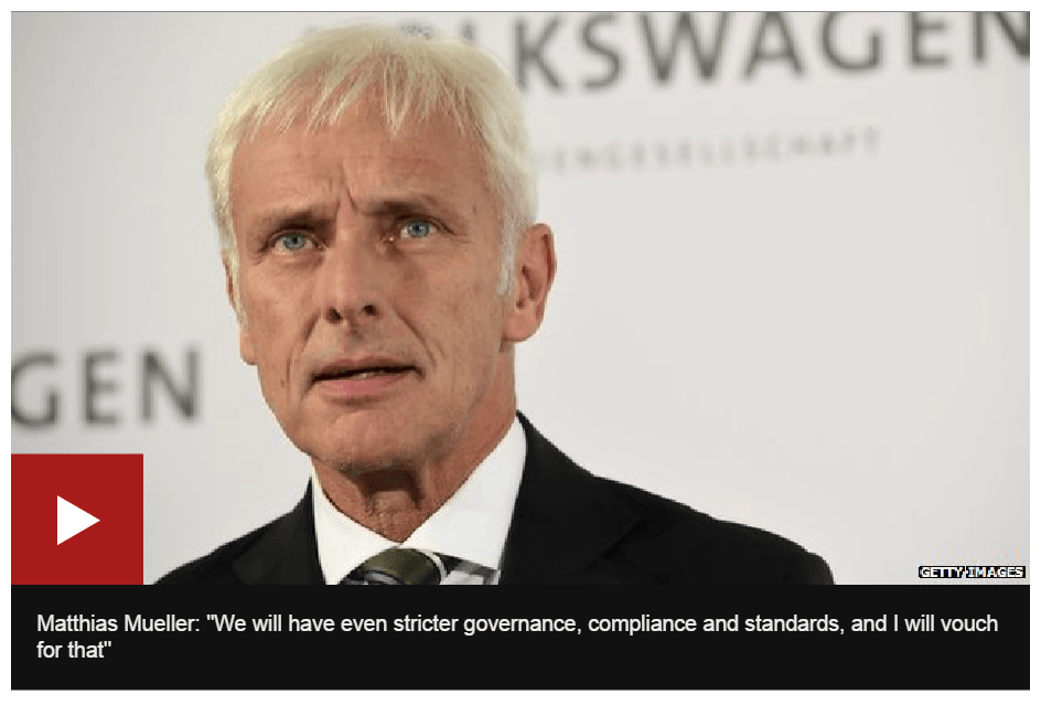 The new CEO of Volkswagen :Matthias Mueller who is obviously muelling things over