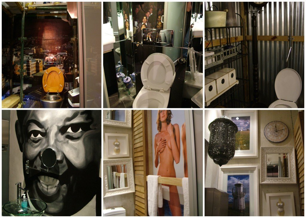 Toilets at the Fire and Ice, Capetown.