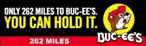An example of a Buc-ee's billboard